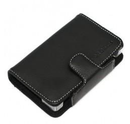 DS Lite Colored Leather case - Zwart
