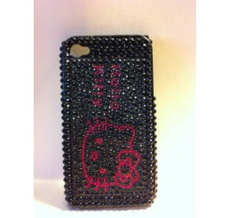 iPhone 4 klik hoes - Hello Kitty (Zwart)