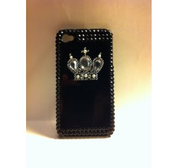 iPhone 4 klik hoes - Kroon (Zwart)
