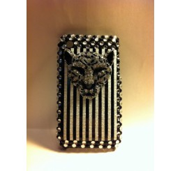 iPhone 3G / 3GS klik hoes - Panter kop (Zilver)