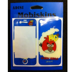 iPhone 4 skin - Angry birds (Blauw)