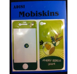 iPhone 4 skin - Angry Birds (Licht groen / donker green)