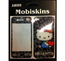 iPhone 4 skin - Hello Kitty (Zwart)