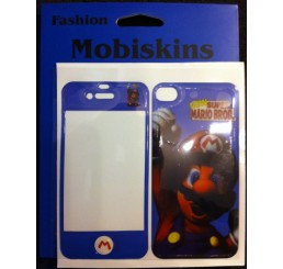 iPhone 4 skin - New Super Mario Bros. (Blauw)