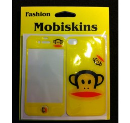 iPhone 4 skin - Paul Frank Aapje (Geel)