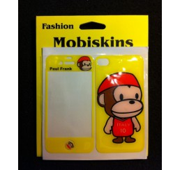 iPhone 4 skin - Paul Frank Aapje (Geel met red Cap)