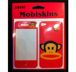 iPhone 4 skin - Paul Frank Aapje (Roze)