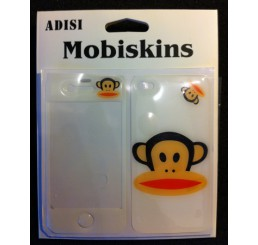iPhone 4 skin - Paul Frank Aapje (Wit)
