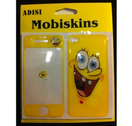 iPhone 4 skin - Spongebob (Geel)