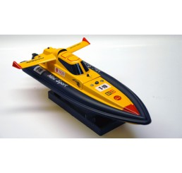 Mosquito Craft Mini T-Racer Speed Boat Champion Sport (Geel / Zwart)