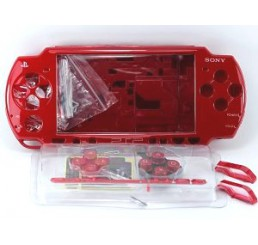 PSP 2000 behuizing inclusief knoppen - red