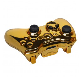 Pre-modded gold Xbox 360 controller (Goud)