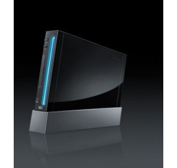 Wii Glossy custom black case