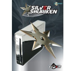 Wii Evolve Silver/Chrome Shuriken Case (Compleet met BASE)
